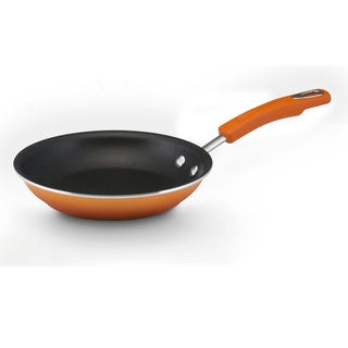 Rachael Ray Hard Enamel Nonstick 8 1/2-inch Orange Gradient Skillet