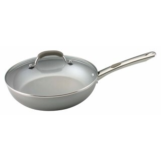 Farberware Specialties Aluminum Nonstick 10 1/2-inch Champagne Deep Covered Skillet
