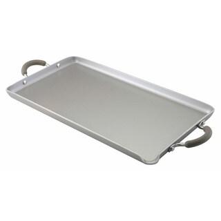 Farberware Specialties Nonstick Aluminum 18 x 10-inch Platinum Double Burner Griddle