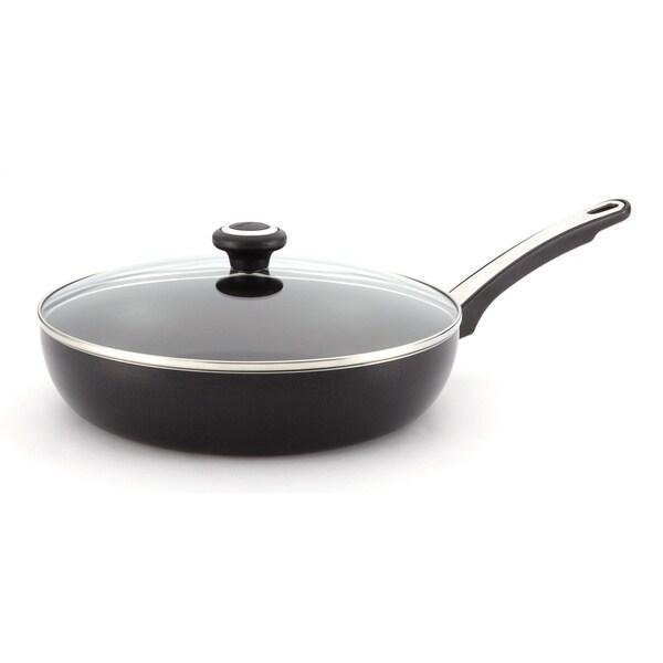 Farberware Dishwasher Safe High Performance Nonstick 12-inch Black Covered Deep Skillet