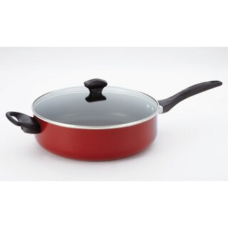 Farberware Dishwasher Safe Nonstick 5-quart Covered Jumbo Cooker with Helper Handles, Red