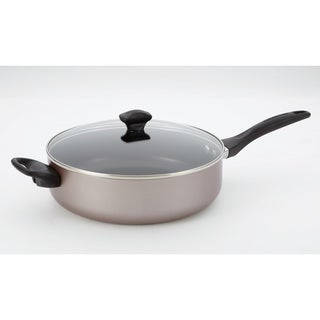 Farberware Dishwasher Safe Nonstick 5-quart Covered Jumbo Cooker with Helper Handles, Champagne