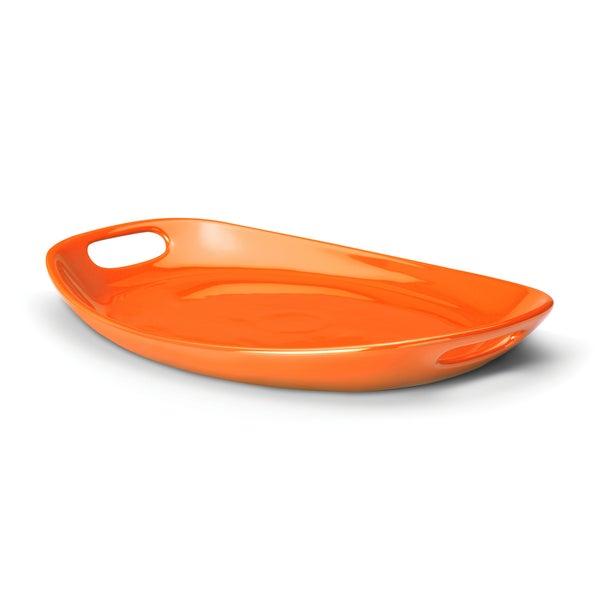 Rachael Ray Serveware 9.76-inch by 15.75-inch Oval Platter, Orange