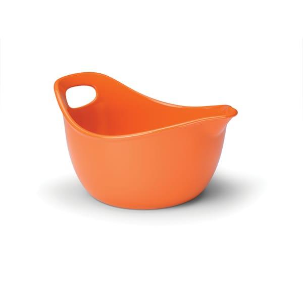 Rachael Ray Stoneware 3-quart Orange Mixing Bowl