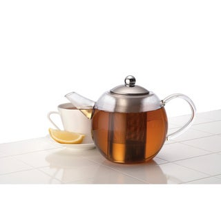 BonJour 34-ounce Round Glass Teapot