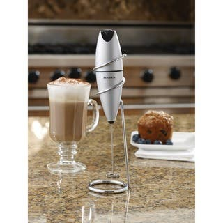 BonJour Coffee Stainless Steel Oval Milk Frother with Stand|https://ak1.ostkcdn.com/images/products/7469249/P14916988.jpg?impolicy=medium