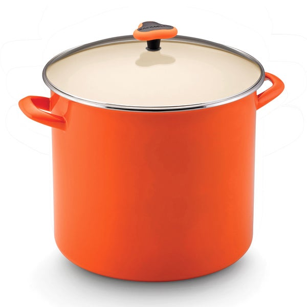 Rachael Ray Enamel on Steel Orange 16-quart Covered Stockpot