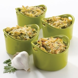 Rachael Ray Stoneware Green 10-oz Bubble and Brown Ramekins (Set of 4)