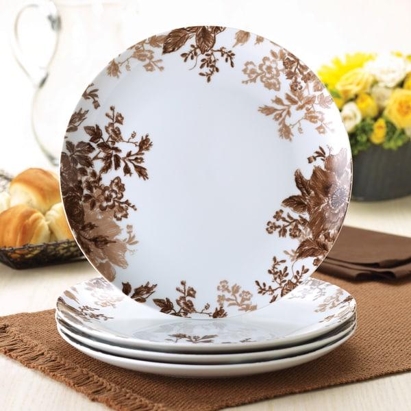 Paula Deen Coffee Bean Four-piece Dinner Plate Set