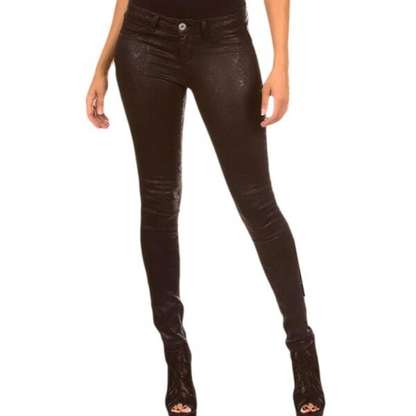 Stanzino Women's Super Stretchy Snake Skin Skinny Pants