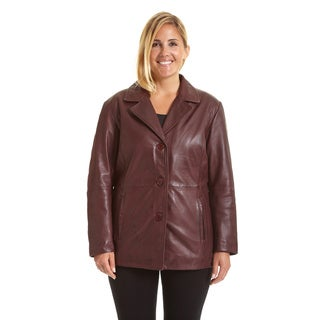 Link to Excelled Women's Plus Size Button Front Leather Stroller Similar Items in Women's Outerwear