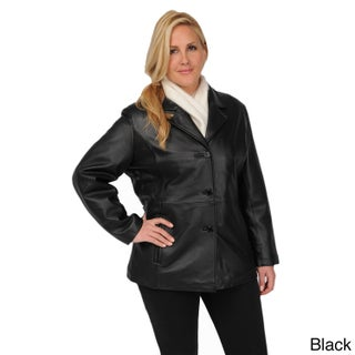 Excelled Women's Plus Size Button Front Leather Stroller (5 options available)