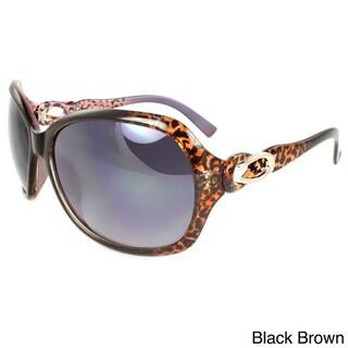 Women's Butterfly Round Plastic Sunglasses