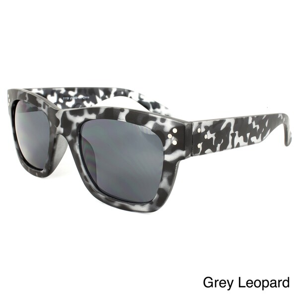 Women's Plastic Leopard Print Sunglasses