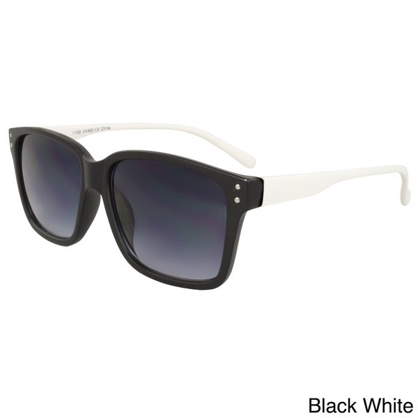 Unisex Two-tone Soft-touch Plastic Sunglasses