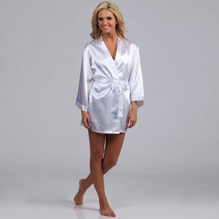 Dreamgirl Women's White Bride Robe and Babydoll Set