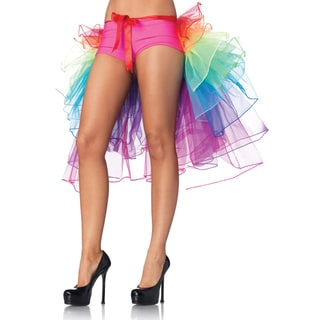 Leg Avenue Rainbow Layered Organza Bustle Skirt