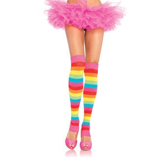 Leg Avenue Women's Rainbow Knit Leg Warmers