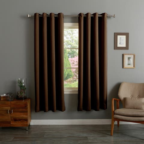 Aurora Home Thermal Insulated 72-inch Blackout Curtain Pair - 52 x 72 - 52 x 72