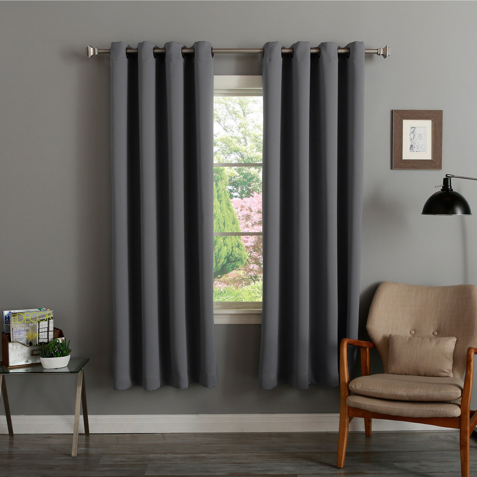 Aurora Home Thermal Insulated 72 Inch Blackout Curtain