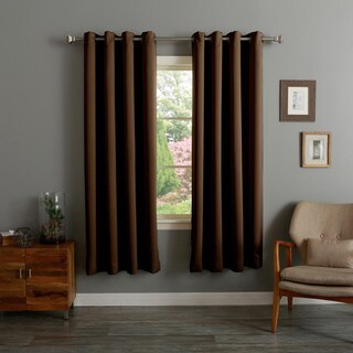 Aurora Home Thermal Insulated 72-inch Blackout Curtain Pair - 52 x 72