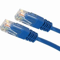4XEM 3FT Cat5e Molded RJ45 UTP Network Patch Cable (Blue)