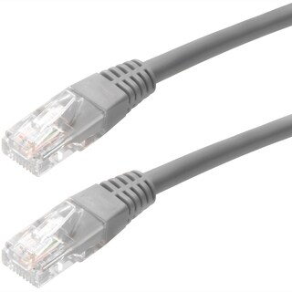 4XEM 6FT Cat5e Molded RJ45 UTP Network Patch Cable (Gray)