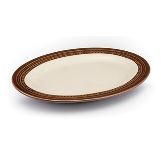 Paula Deen Signature Dinnerware Southern Gathering 10-Inch x 14-Inch Chestnut Oval Platter