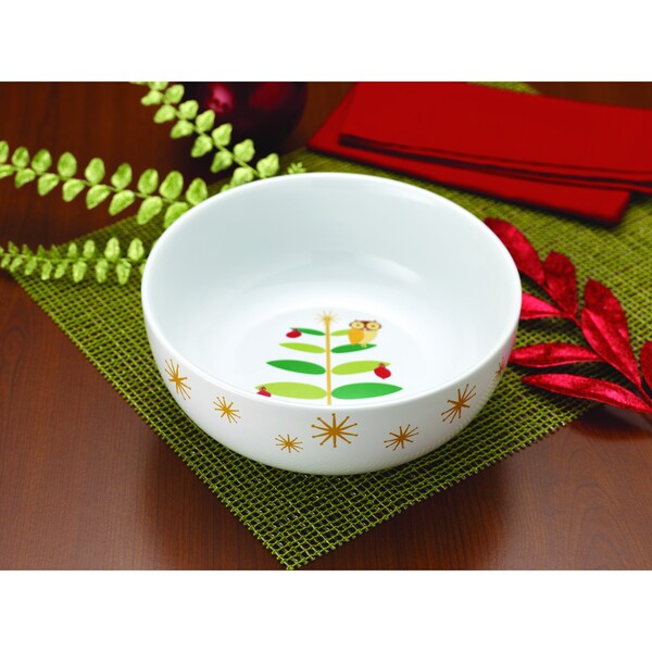 Rachael Ray Holiday Hoot 10-inch Serving Bowl