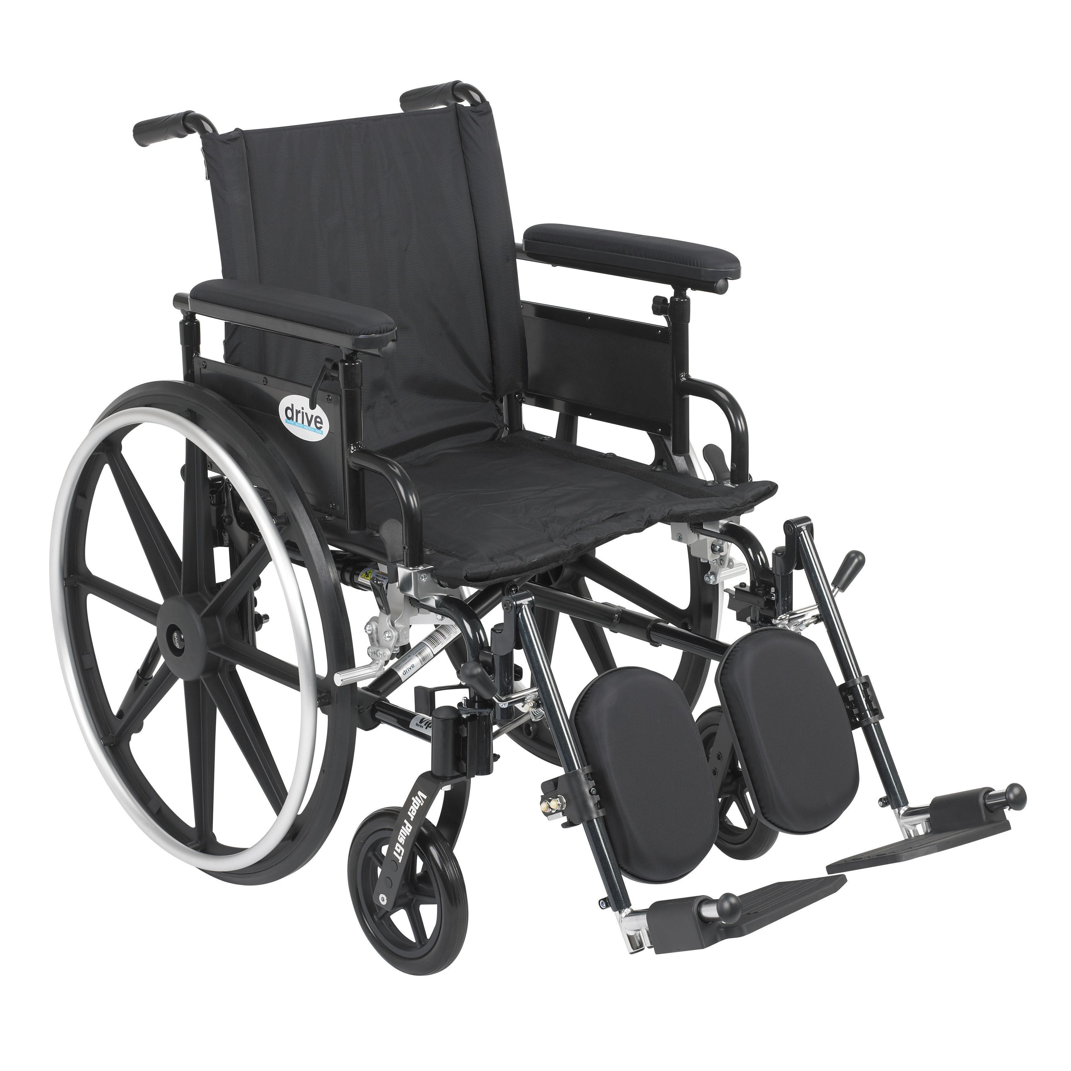 Drive Medical Viper Plus GT Wheelchair with Flip Back Adj...