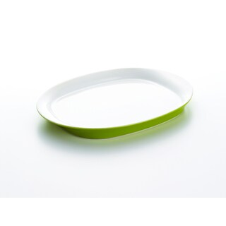Rachael Ray Round & Square Green 14-Inch Oval Platter