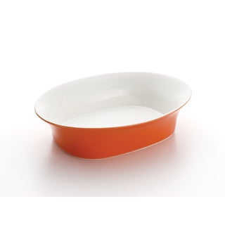 Rachael Ray Round & Square 14-Inch Orange Oval Serving Bowl