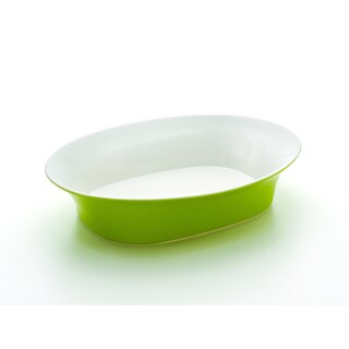 Rachael Ray Round & Square Green 14-Inch Oval Serving Bowl (Option: Green)