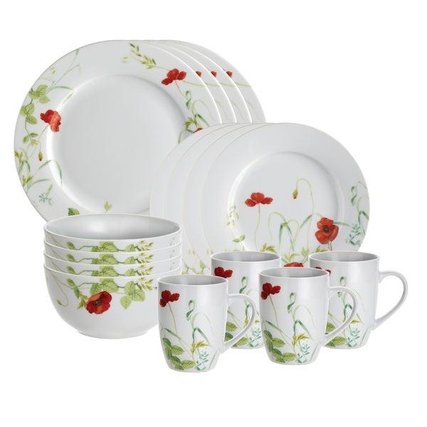 Paula Deen Signature Poppy Valley 16-piece Dinnerware Set