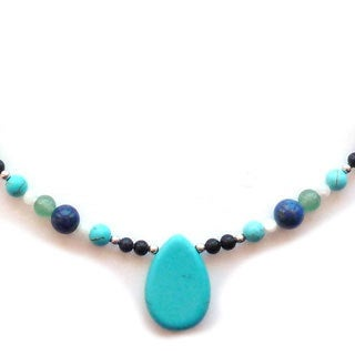 Every Morning Design Turquoise Blue and Green Necklace