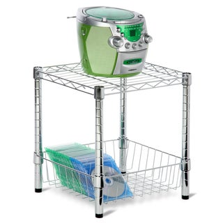 Honey Can Do Chrome Commercial Storage Table with Basket