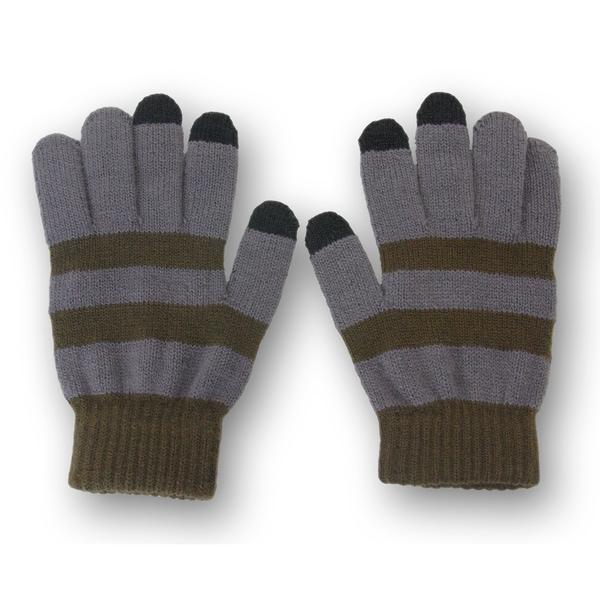Solegear Men's Green Line Touch Screen Smart Gloves