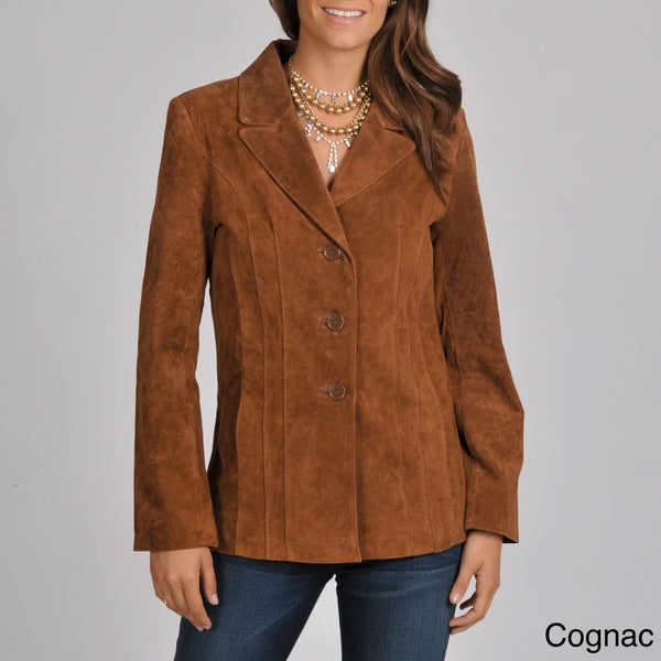 Excelled Women's Washable Suede Jacket - Free Shipping Today ...