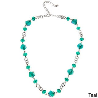 Alexa Starr Faceted Glass Twisted Bead Short Necklace