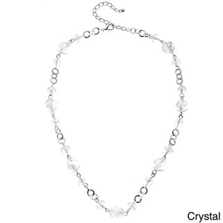 Faceted Glass Twisted Bead Short Necklace (2 options available)