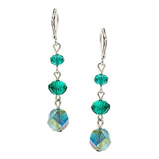 Alexa Starr Faceted Glass Twist Bead Triple Drop Earrings