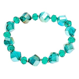 Alexa Starr Faceted Glass Twist Bead Stretch Bracelet