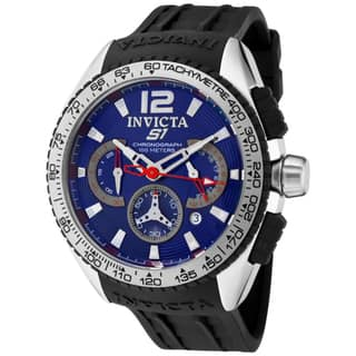 Invicta Men's 1451 'S1/Rally' Black Polyurethane Watch|https://ak1.ostkcdn.com/images/products/7471856/P14919166.jpg?impolicy=medium