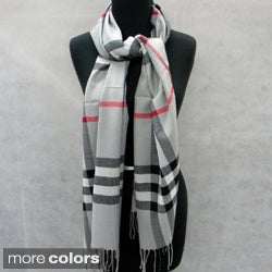 Plaid Fringed Pashmina Fashion Scarf/Wrap/Shawl