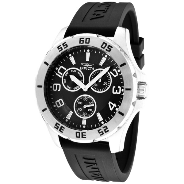 Invicta Men's 'Specialty' Black Polyurethane Watch