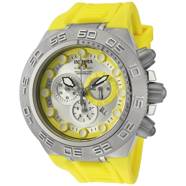 Invicta Men's 'Subaqua/Sports' Yellow Silicone Watch