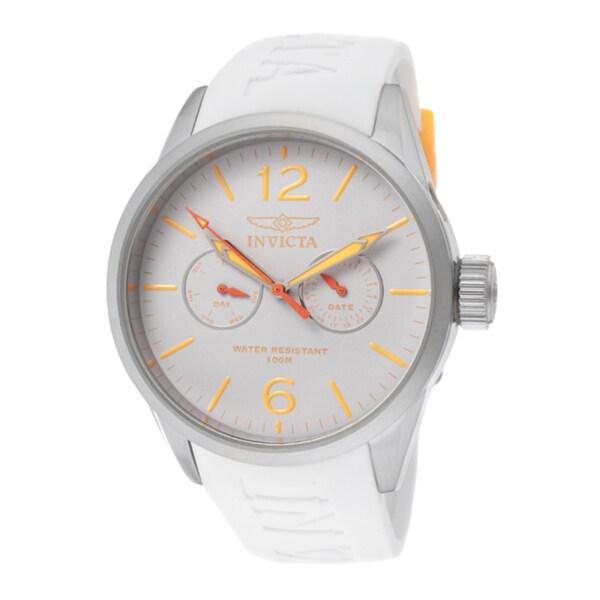 Invicta Unisex 'I-Force' White Polyurethane Watch