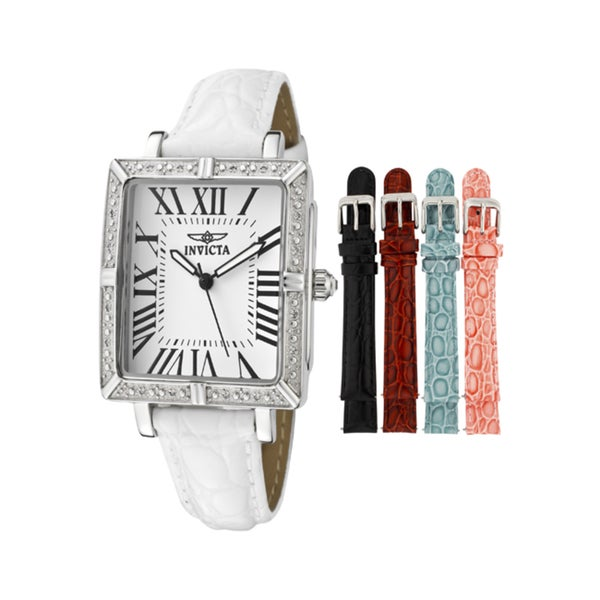 Invicta Women's 'Wildflower' White Leather Watch