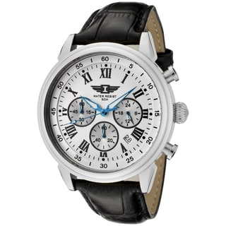I by Invicta Men's Black Leather Watch