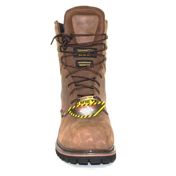Shop AdTec Men's 'Super Logger' 9 inch Brown Waterproof